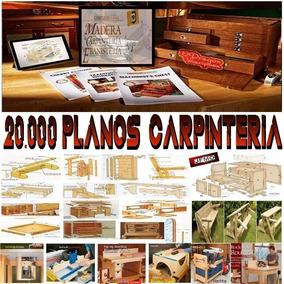 20.000 Planos Mesas Muebles Bancos Carpintería Madera