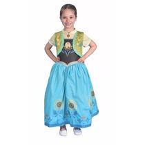 Disfraz Vestido Verde Anna Frozen Talle 1 Original Disney