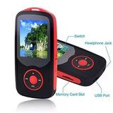 Reproductor Mp3 Fecpecu 16gb Con Bluetooth Color Rojo