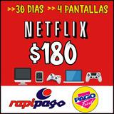 Cuenta Netfilix 30 Dias -4 Pantallas Personal Y Renovable