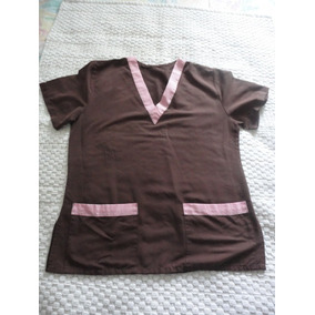 Blusa Mono Quirúrgico Marrón Talla S