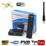 Satélite Digital Tv Receptor Freesat V7 Hd Dvb-s/s2 Fta Set