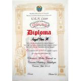 Diplomas Graduación Certificados Reconocimientos Placas