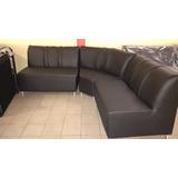 Mueble Modular En Semicuero Color Negro