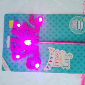 Cartel Feliz Cumple Con Luz, Luminoso Para Tortas