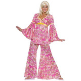 Flower Power Hippie Disfraz Adulto - Adulto Standard (están