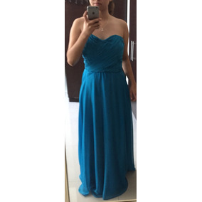 Vestido Largo De Fiesta Azul