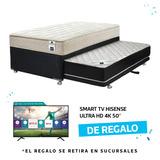 Diván Black 105x200 + Regalo Smart Tv Hisense Hd 4k 50´´