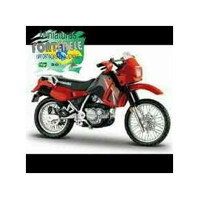 Miniatura Moto Kawasaki Klr 650 Cor Rara 1:18