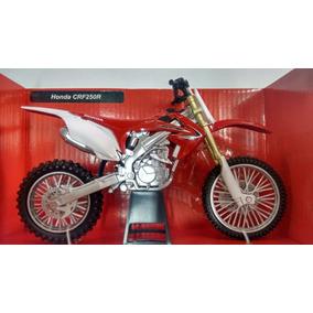 Miniatura Moto Crf250r 1:12 Motocross Velocross Réplica