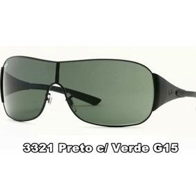 6783121e993dd Ray Ban Rb3211, Preto E Máscara (lente) Verde, Frete Grátis - Óculos ...