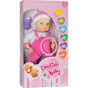 Boneca Interativa Emotion Baby Roupa Rosa - Multikids