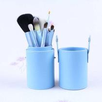 Kit Pincel Maquiagem + Estojo Com 12 Pincéis-com Nota Fiscal