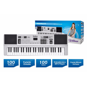 Teclado Musical Digital 54 Teclas Mod. Stk-54 Bivolt Waldman