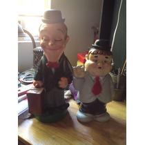 Figuras Vintage Del Gordo Y El Flaco; Alcancías