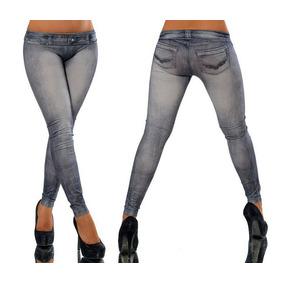 Pantalón Strech Sexy Leggings Pus Hup Tipo Mezclilla Mujer