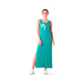 Vestidos Casuales Largos Colmena Verde Columpio