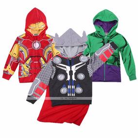 Poleron Superheroes Niños ,capitan America, Thor, Iron Man