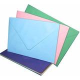 Sobres Oficio Ingles De Colores Gran Variedad X 100