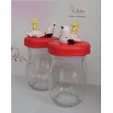 Frascos Decorados Con Muñeco De Snoopy De Masa Flexible
