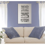 Cuadro Familia Casa Home Hogar Family Life Love Frases 20x30