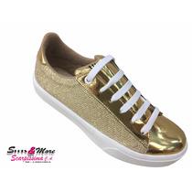 Zapato Para Dama Vic Matie 3843 Dorado