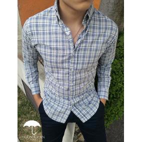 Camisa Moon & Rain Minicuadro Marron / Azul
