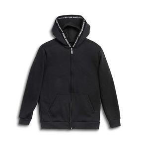 Campera Sismo Machine Zip Hood Negro