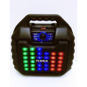 Caixa Som Bluetooth 2000w Amplificada Fm Aux Usb Sd