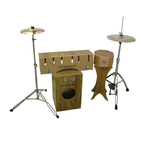 Kit Cajón Drum Corpo Mdf Hit Sound,composto Por Bumbo