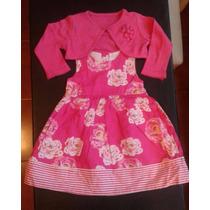 Vestido Bebé 6/9 Meses- Con Tolerita A Juego. Importado