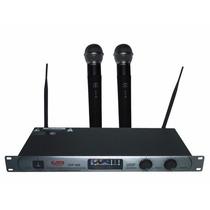 2 Microfonos Inalambricos Uhf De Mano Gbr 300 Profesional