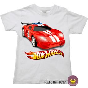 1dfc0691d9 Camiseta Infantil Hot Wheels Carros De Corrida 03