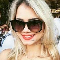 Óculos De Sol Feminino Rasoir Aberto Fosco Gatinho Grande Uv