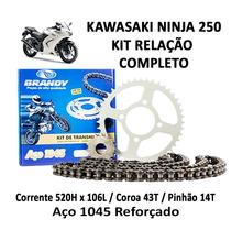Kit Relação Completo Brandy Kawasaki Ninja 250r