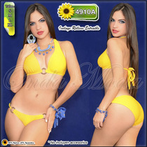 Traje Baño Damas Ultima Moda 2017 Bikinis Altos Mayor Hilo