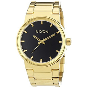 Nixon Hombres Cañón A160510 Oro Acero Inoxidable Reloj De...