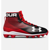 Under Armour Tacos Football Americano De Bota Tachon Rojo
