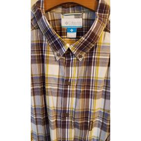 Camisa Columbia Talle Especial Grande 4xl Eeuu Azul/beige