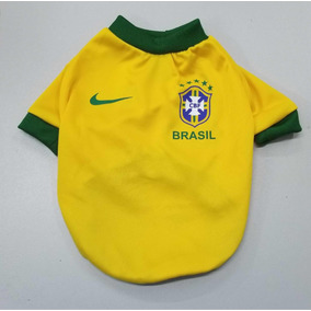 Camisa Brasil Para Perro Talla 1 A La 3