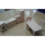 Muebles Para Casita De Muñecas Barbie (set Cocina/comedor)