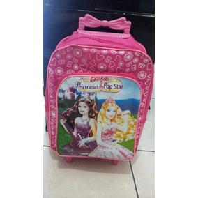 Bolsa Mochila De Rodinhas Barbie Princesa Pop Star