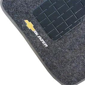 Jogo Tapete Grafite Carpete Blazer 1995 A 2011 Logo Bordado