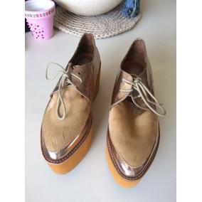 Zapatos Beige/dorados Jeffrey Campbell