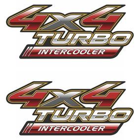 Par De Adesivos 4x4 Turbo Intercooler Hilux - 2 Unid.