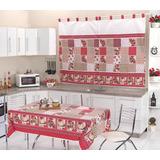 Kit Cozinha Com Cortina E Toalha De Mesa Para 4 Cadeiras