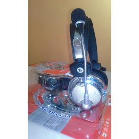 Fone De Ouvido Com Microfone Modelo Hw-301mv P/ Pc/lan House