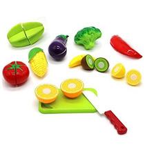 Juguete 12 Piezas De Corte De Verduras Frutas Juego De Imag