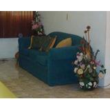 Sofa Tres 3 Puestos Tapizado En Tela Remate