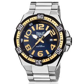 Relógio Everlast Masculino Prata Analógico - E634